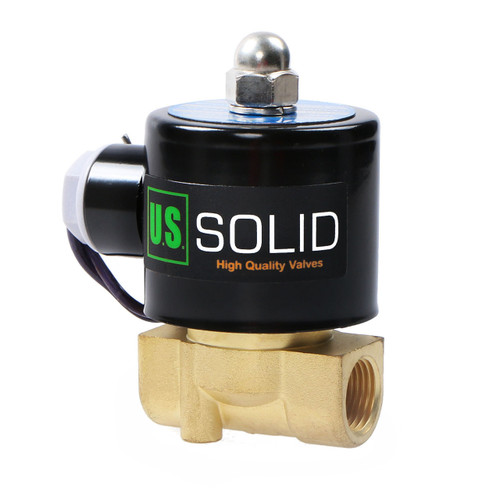 """3/8"""" NPT Electric Solenoid Valve 12V DC Air, Gas,Fuel Normally Closed"""