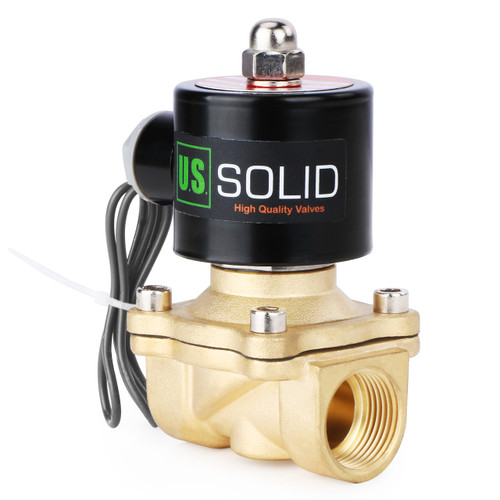 """3/4"""" Brass Electric Solenoid Valve 24V DC N.C. Air Water Fuel VITON"""