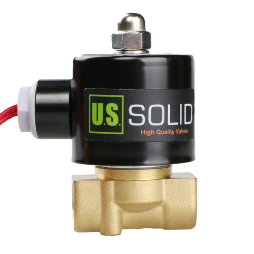 """3/8"""" Brass Solenoid Valve 24V AC (Air, Water, Fuel) Normally Closed,  VITON Gasket"""