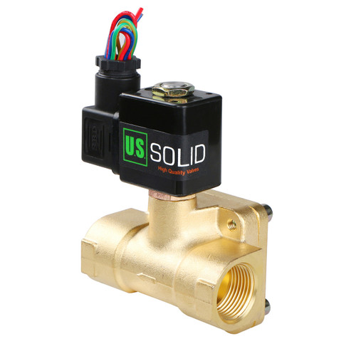 """1/2"""" Stainless Steel Electric Solenoid Valve 12V DC G Thread Normally Closed VITON"""