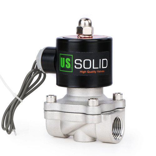 """1/2"""" Stainless Steel Electric Solenoid Valve 24V DC N.C. VITON Water Air Fuel"""