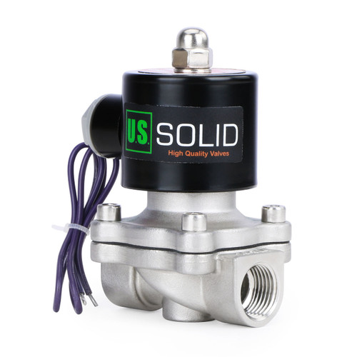"""3/4"""" Stainless Steel Electric Solenoid Valve 12V DC N.C. Air Water Fuel VITON"""