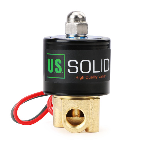 """1/4"""" Brass Electric Solenoid Valve 24V AC Normally Closed VITON"""