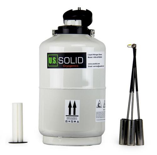 10L Liquid Nitrogen Dewar - Liquid Nitrogen Tank Container LN2 Dewar with Straps