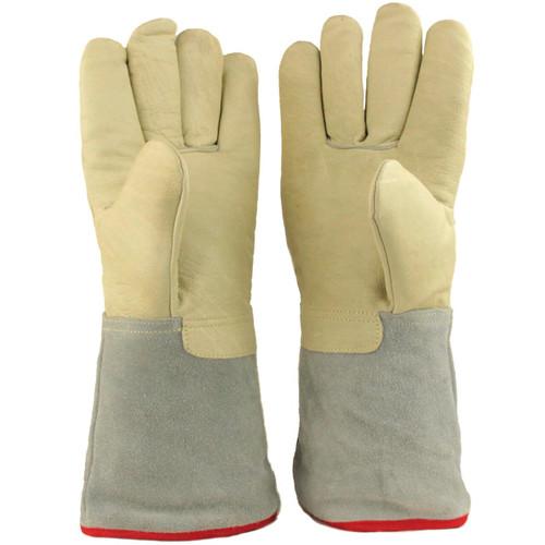 "35cm (13.8"") Long Cryogenic Gloves LN2 Liquid Nitrogen Protective Gloves"