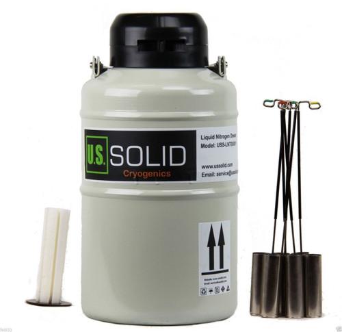 3.15L Liquid Nitrogen Dewar - Liquid Nitrogen Tank Container LN2 Dewar with Straps