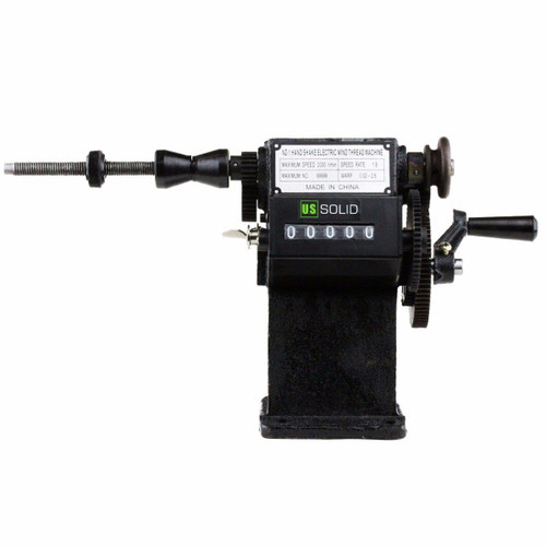 U.S. Solid  Dual-Purpose Electric/ Manual Coil Winding Machine w/ Counter