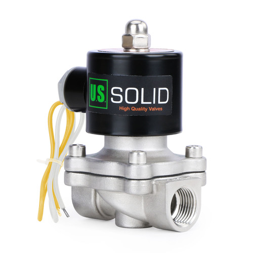 """3/4"""" Stainless Steel Electric Solenoid Valve 220V AC G Thread Normally Closed VITON from U.S. SOLID"""