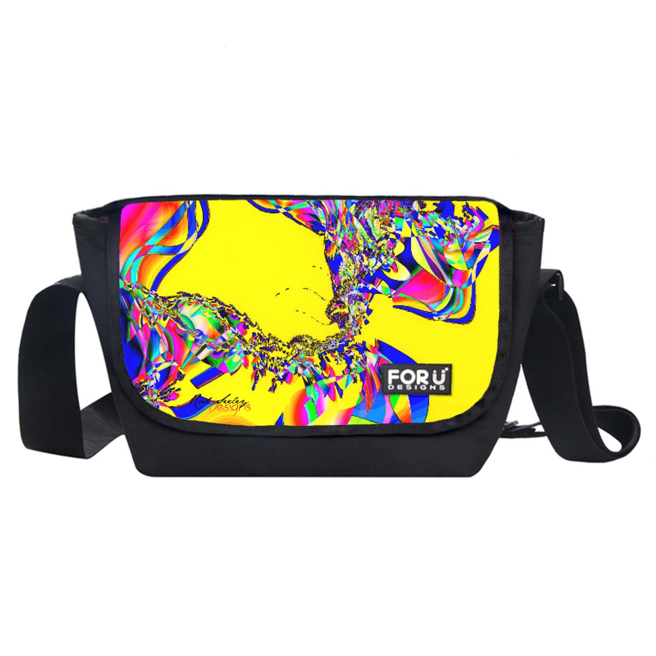 Yellow Rainbow Flow - Messenger Bag GL0003N  - Rod Seeley Designs ... 02fe830ae8d5a