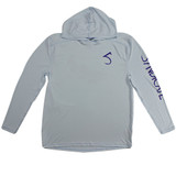 Syndicate Dirty Nympher solar hoody in grey front view
