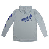 Syndicate Dirty Nympher solar hoody in grey back view