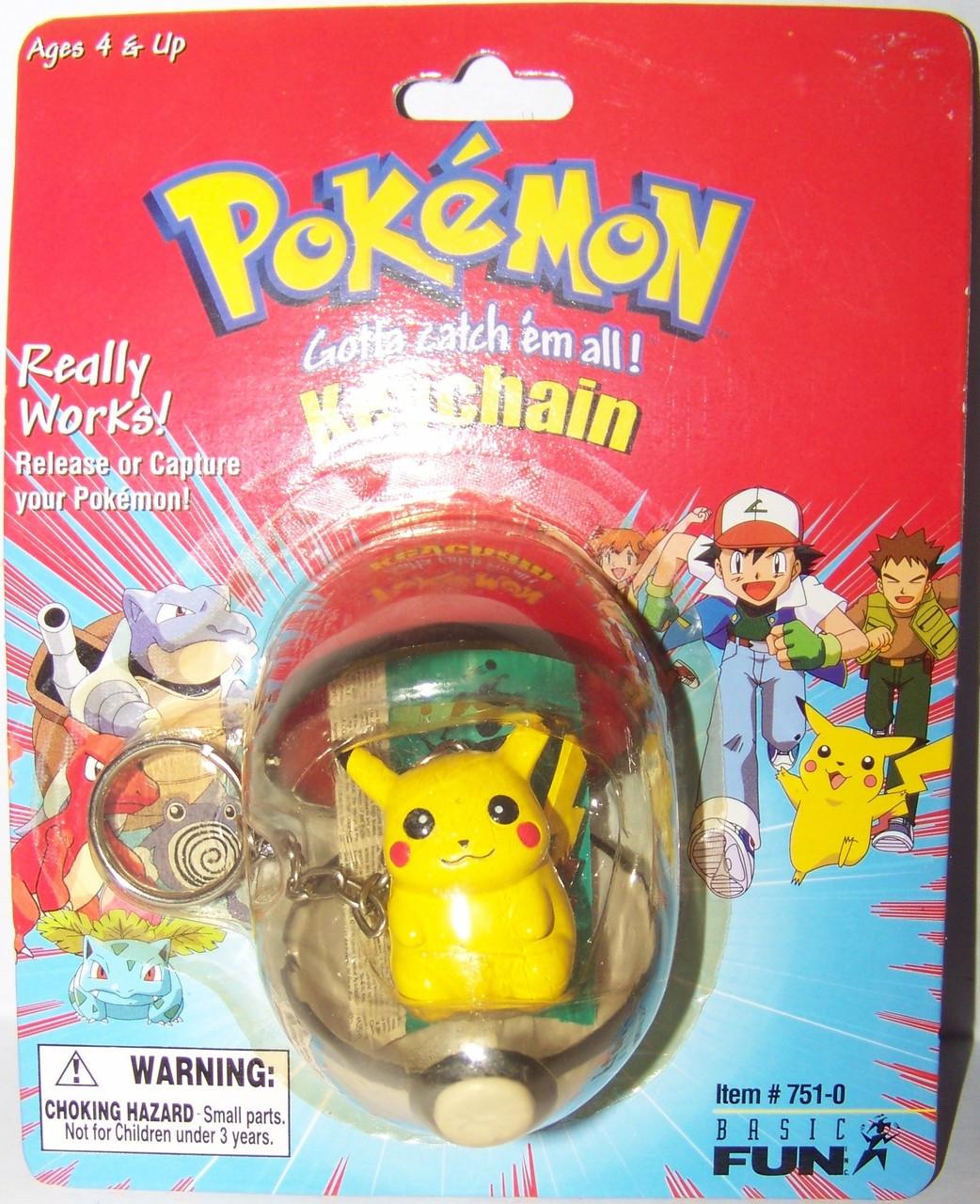Pokemon Basic Fun keychains