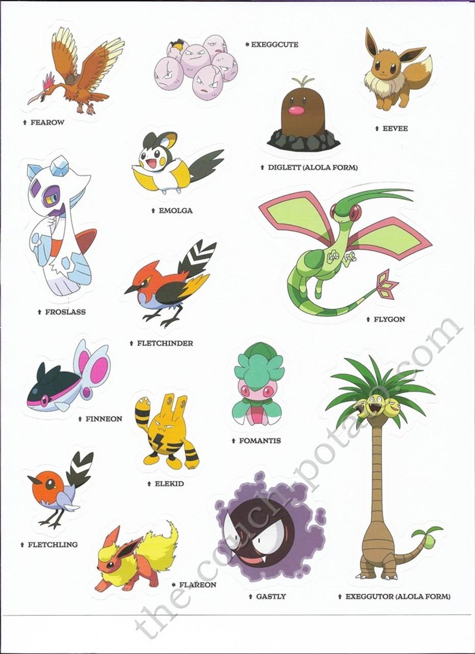 Stickers Pokemon.Pokemon Alola Stickers 6989