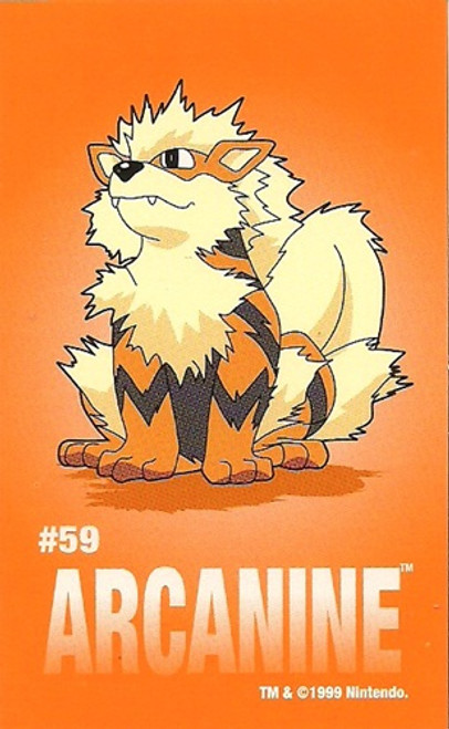 Pokemon Arcanine Sandylion Sticker Card