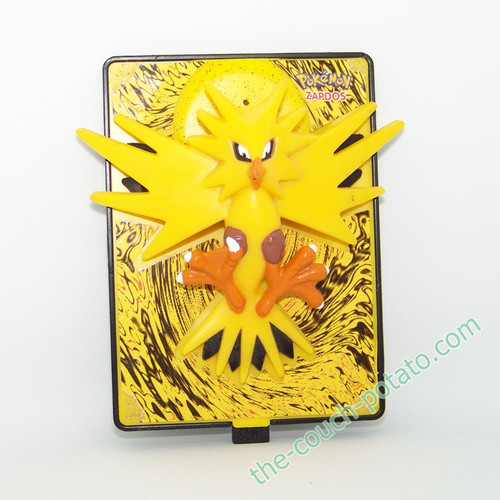 Pokemon Zapdos Burger King meal toy 3D Action Card