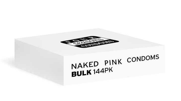 Four Seasons NAKED Pink Condoms 144pk
