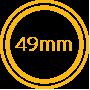 49mm wide