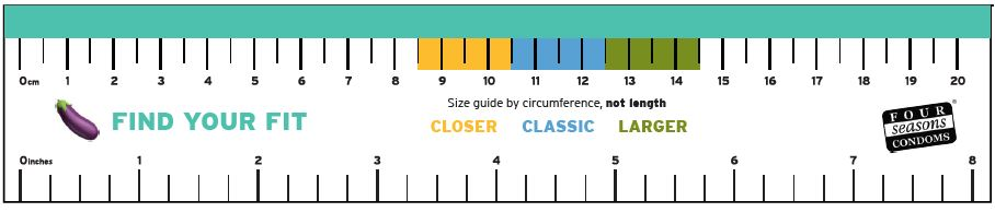 Download a ruler and size guide here