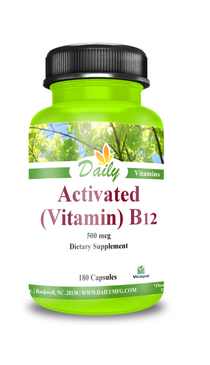 Daily Manufacturing Activated Vitamin B12 (180)