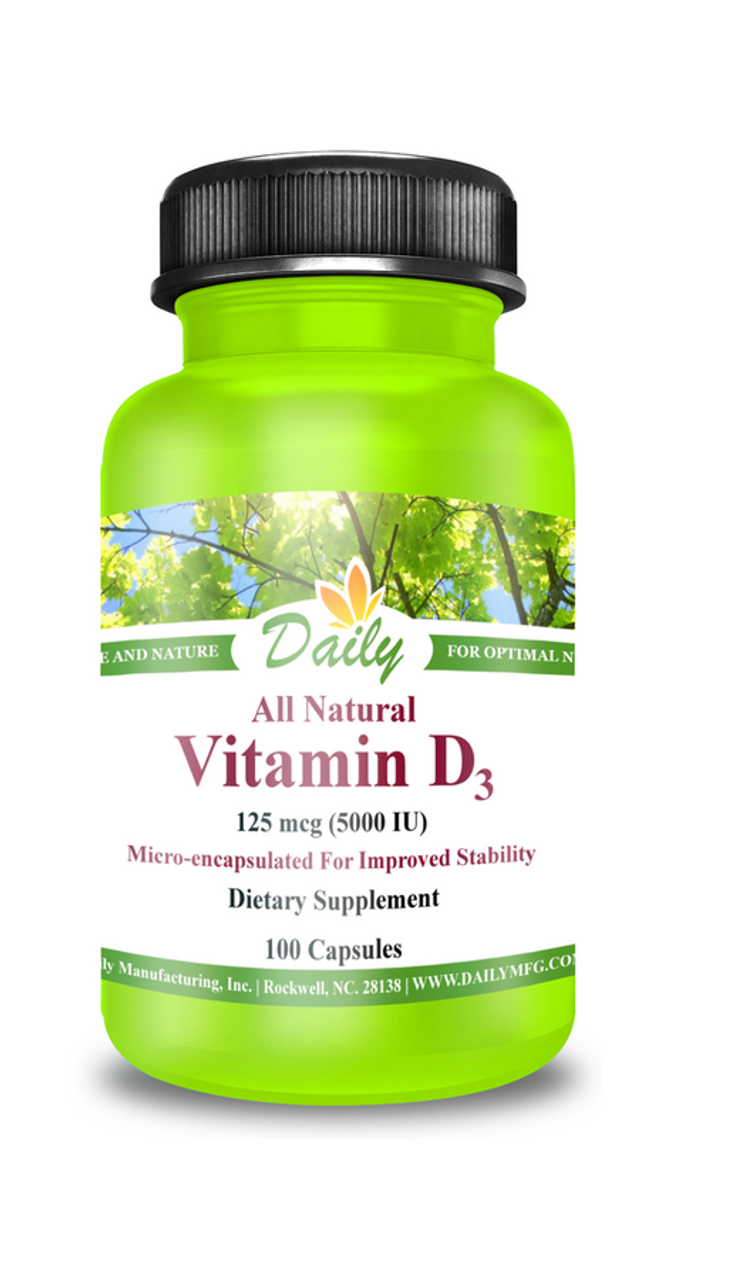 Daily Manufacturing Vitamin D3-5000 (100 caps)