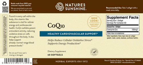 CoQ10 (100 mg) (60 Softgel Caps)