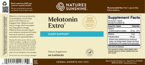Melatonin Extra® (3 mg) (60 caps)