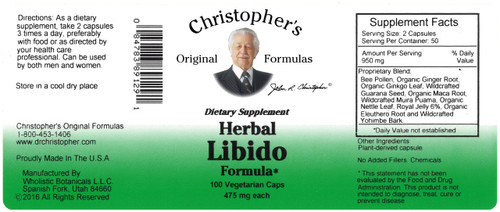 Herbal Libido Formula (100 caps)