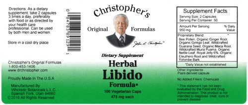 Herbal Libido Formula (100 caps)