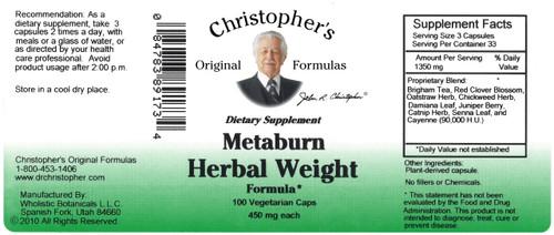 Metaburn Herbal Weight Formula (100 caps)