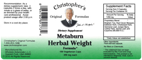 Metaburn Herbal Weight Formula (100 caps)