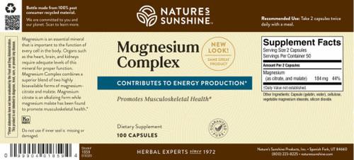 Magnesium Complex 100 Capsules