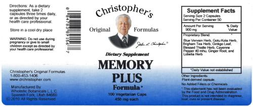 Memory Plus Capsule (100 caps)