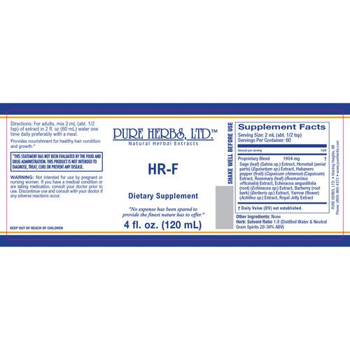 Pure Herbs, HR-F (4 oz.)