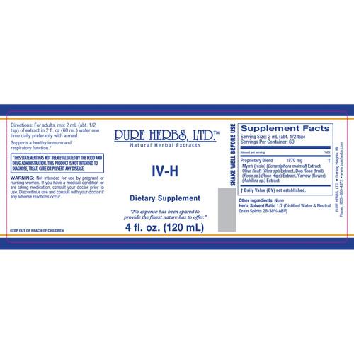 Pure Herbs, Ltd. IV-H