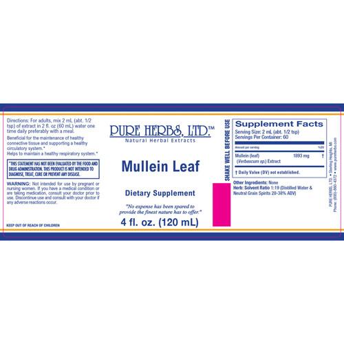 Pure Herbs, Ltd. Mullein Leaf (4 oz.)