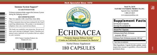 Echinacea Purpurea (180 caps)