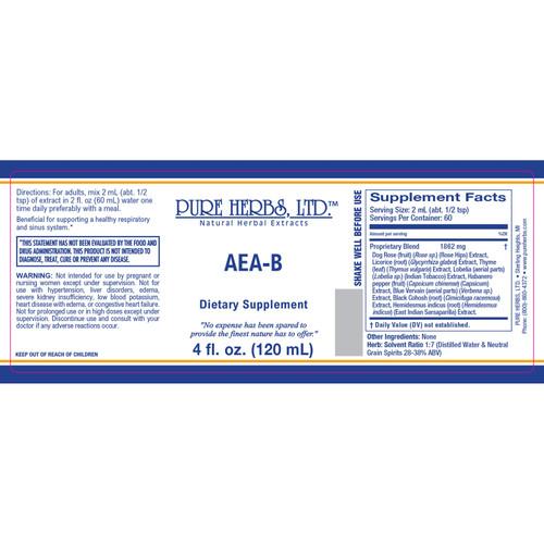 Pure Herbs, Ltd.  AEA-B (4 oz.)