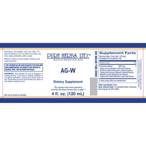 Pure Herbs, Ltd.  AG-W (4 oz.)