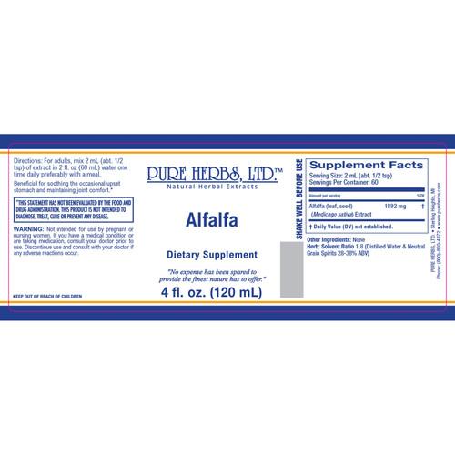 Pure Herbs, Ltd.  Alfalfa (4 oz.)