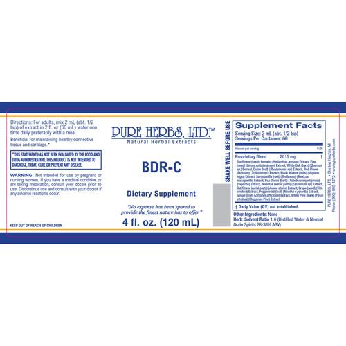 Pure Herbs, Ltd.  BDR-C (4 oz.)