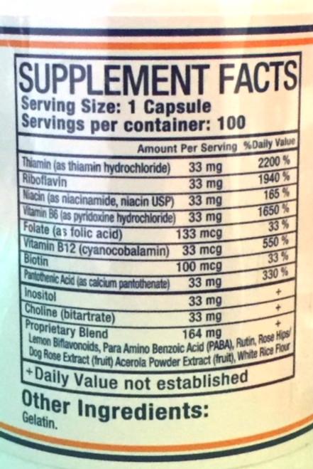 Pure Herbs, Ltd.  Vitamin B Capsules (100 caps)