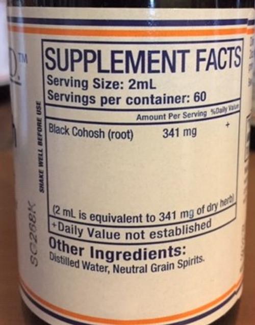 Pure Herbs, Ltd.  Black Cohosh (4 oz.)