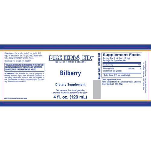 Pure Herbs, Ltd.  Bilberry (4 oz.)