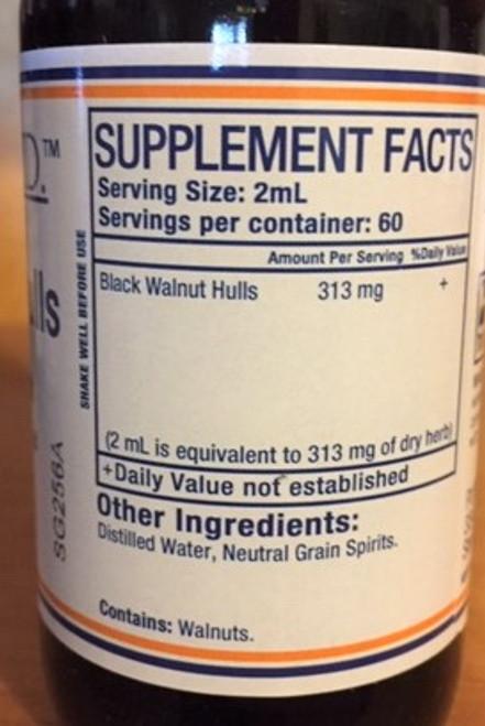 Pure Herbs, Ltd.  Black Walnut Hulls (4 oz.)