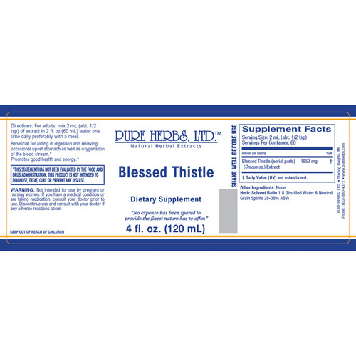Pure Herbs, Ltd.  Blessed Thistle