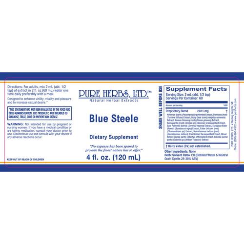 Pure Herbs, Ltd.  Blue Steele (4 oz.)
