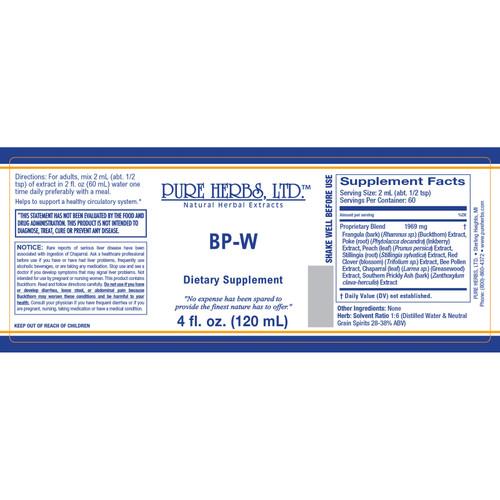 Pure Herbs, Ltd.  BP-W (4 oz.)