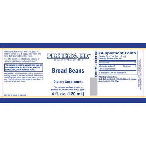 Pure Herbs, Ltd.  Broad Beans (4 oz.)