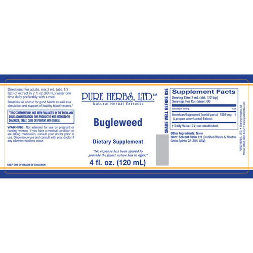 Pure Herbs, Ltd.  Bugleweed (4 oz.)