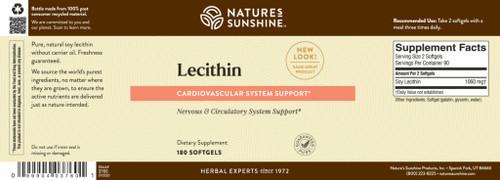 Lecithin (180 softgel caps)
